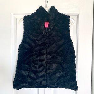 Betsy Johnson Faux Fur Black Vest